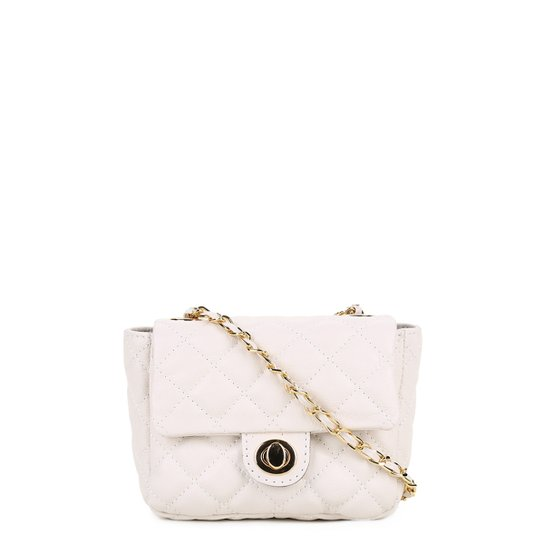 2c2484171 Bolsa Couro Luz da Lua Mini Bag Matelassê Feminina - Branco | Zattini