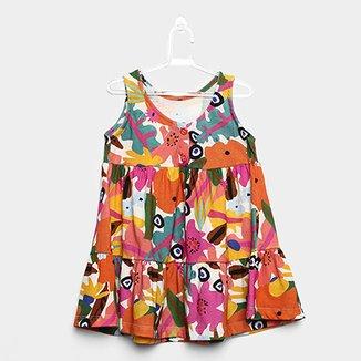 Vestido Infantil Fábula Estampado Carolina Feminino e166fa454a2