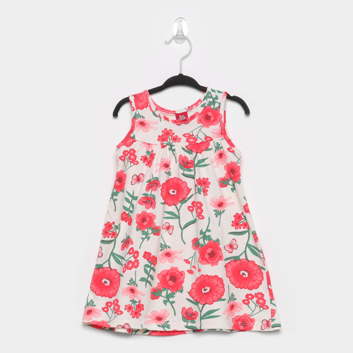 Vestido Infantil Bee Loop Floral Regata
