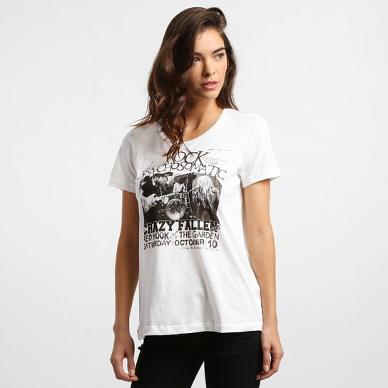 abe8af2a9 Camiseta Colcci Banda - Off White