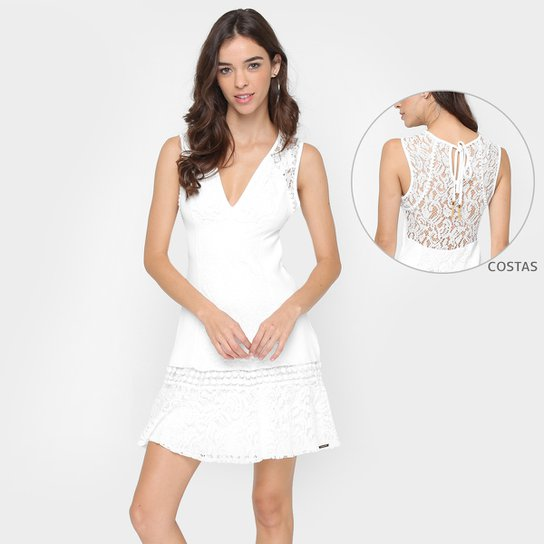 6cf083d0c Vestido Colcci Renda Transparência Costas - Compre Agora | Zattini