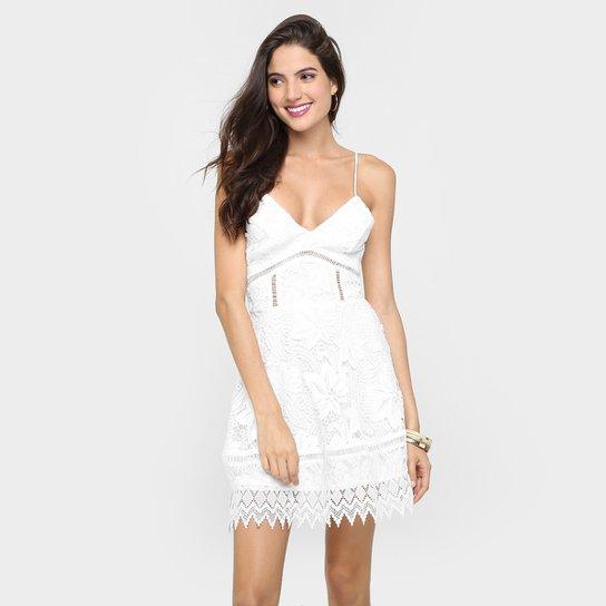 b63db4bb71 Vestido Colcci Renda - Off White