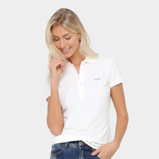 4640e3df6f Camisa Polo Colcci Bordada Feminina - Compre Agora