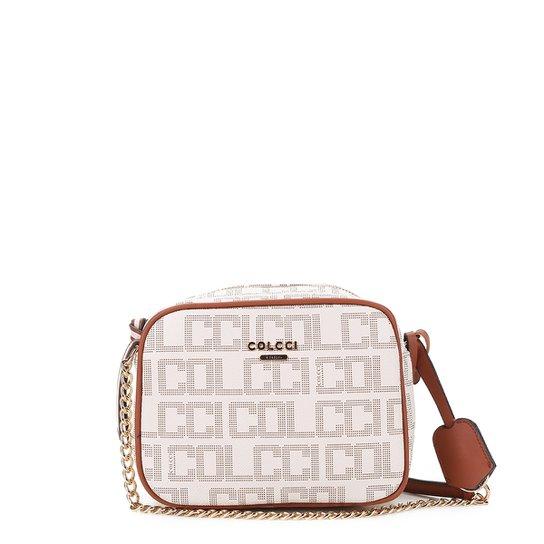 Bolsa Colcci Mini Bag Monograma Alça Corrente Transversal Feminina - Off  White 3396d143c7b
