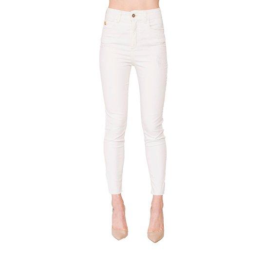 a4f2c8a7a Calça Sarja Skinny Karen Colcci - Off White - Compre Agora | Zattini