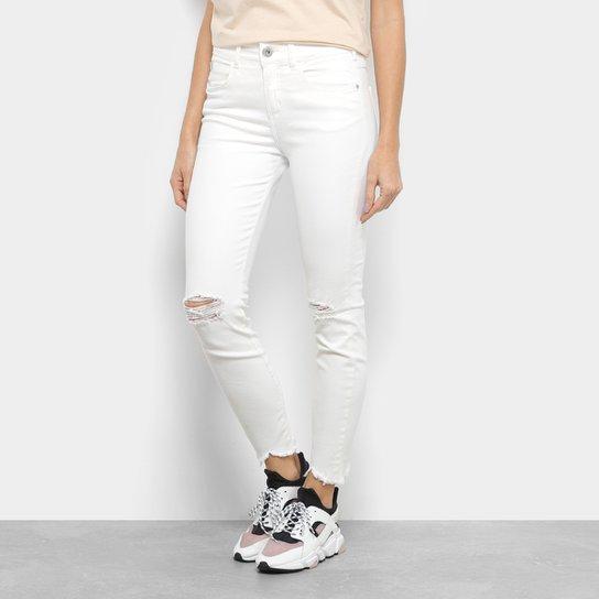 0f04f1218 Calça De Sarja Skinny Colcci Cory Cintura Média Feminina - Off White ...