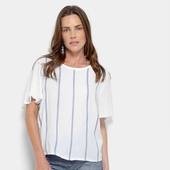 69b26a1e6 Camiseta Forum Listrada Feminina - Branco - Compre Agora   Zattini