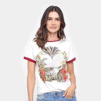 38ce9925c Camiseta Cantão Estampa Tahiti Feminina