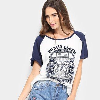9c283d0ea Camiseta Cantão Drama Queen Feminina