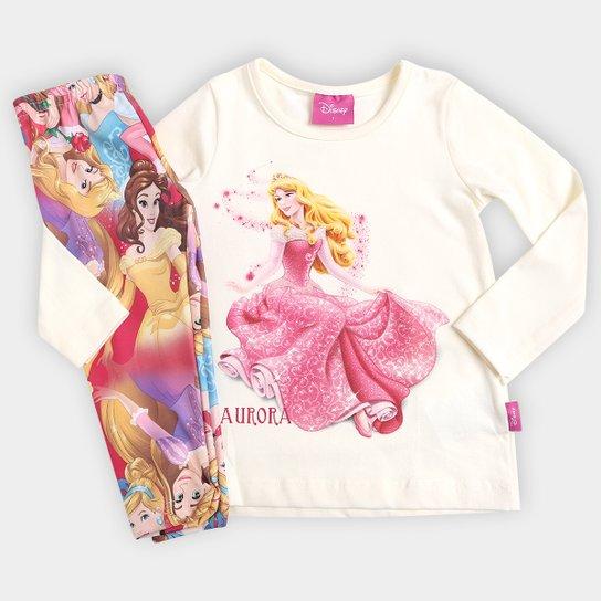 3d4ff56546 Conjunto Brandili Disney Princesas Infantil - Off White