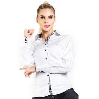 9e641a5fd CAMISA CARLOS BRUSMAN FEMININA SLIM RETA MICRO POÁ