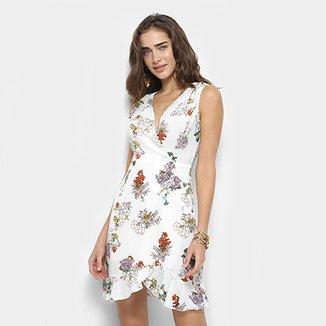 1c088c8af7 Vestido Forwhy Evasê Floral Transpasse