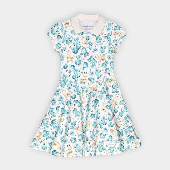 e5bda432f Vestido Infantil Lilica Ripilica Polo Estampado - Off White