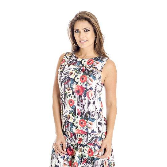 806a40bbf79ba Regata Viscose Floral Ana Hickmann - Off White - Compre Agora   Zattini