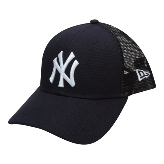 903394c3ff Boné New Era MLB New York Yankees Aba Curva 940 Sn Trucker - Marinho+Preto