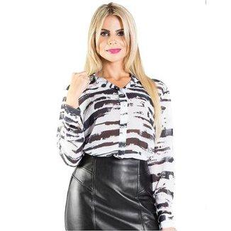 26c157e9b10 Camisa Manga Longareta e Branca Alphorria