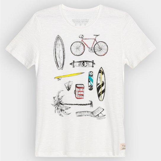 d2b3dc373 Camiseta Colcci Fun Estampa Bicicleta Infantil - Off White
