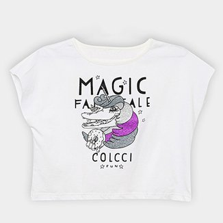 0be8d54fe Camiseta Infantil Colcci Fun Cropped Estampada Feminina