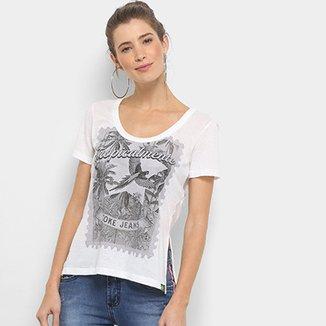 e2a0f33b7 Camiseta Coca-Cola Gola Careca Estampada Feminina