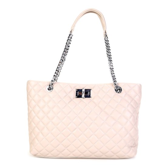 cf9241460 Bolsa Santa Lolla Shopper Matelassê Alça Corrente Feminina - Compre ...