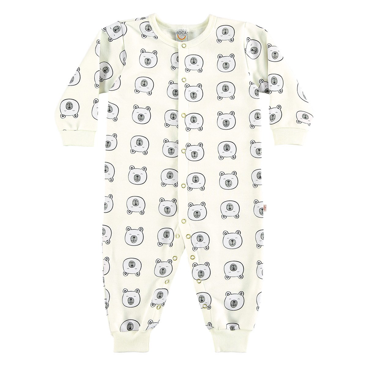 Pijama Infantil Boca Grande Macacão Moletom Feminino