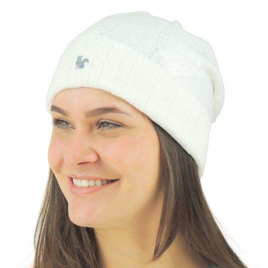 Gorro Feminino Pompom Chelsea Tricô Premium - Off White - Compre ... 40c07ef3794