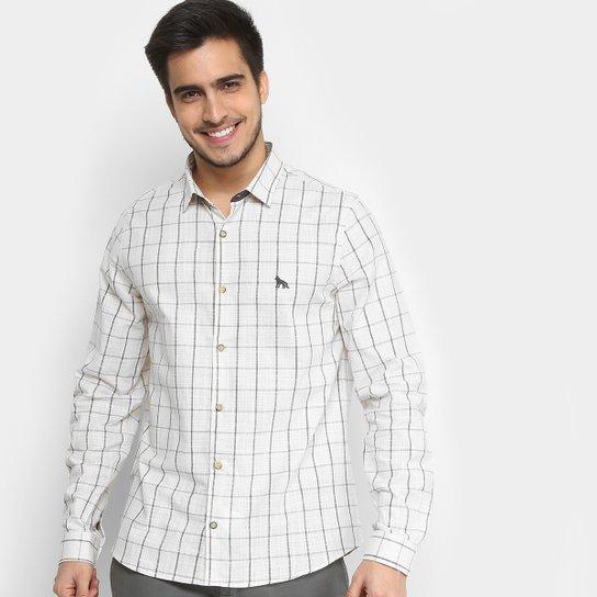 7b6970724 Camisa Xadrez Acostamento Manga Longa Masculina - Compre Agora