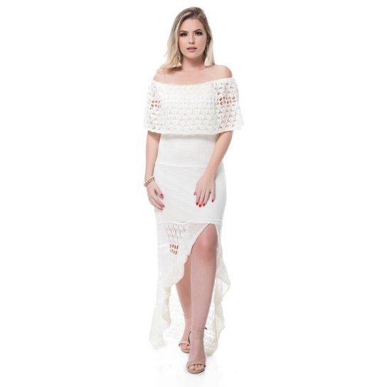 a0fea1393 Vestido Sintonia Tricot Longo Cigana - Compre Agora