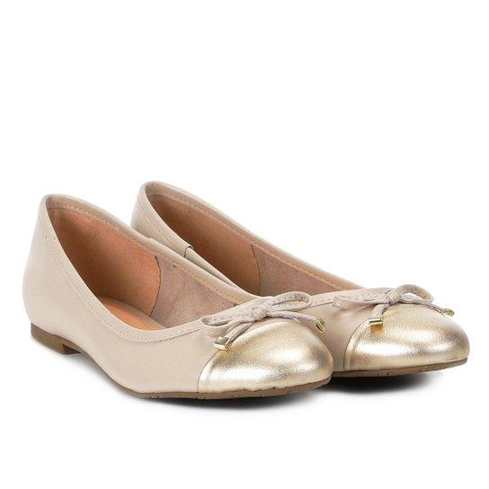 2f4801397 Sapatilha Couro Shoestock Bico Redondo Laço Feminina - Off White ...