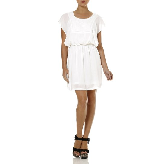 d87bfdf57 Vestido Curto Feminino Autentique Off white - Off White
