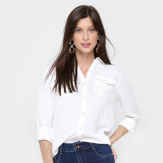c05e0a4650 Camisa Aishty Manga Longa Bolsos Feminina - Off White