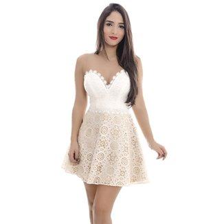 ab46cbd8b4 Vestido Win - Rosa Fina - Off White - P