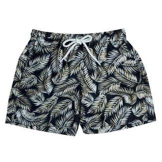 357c301d76 Shorts Infantil Mash Estampado Folhagem Masculino