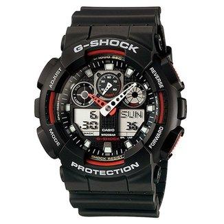 d837e134586 Relógio Casio Ana-Digi Masculino G-Shock - GA-100-1A4DR
