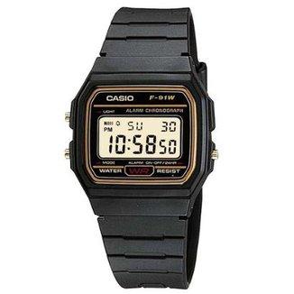 d6ae2f1e4bd Relógio Masculino Casio Vintage F91wg9qdf