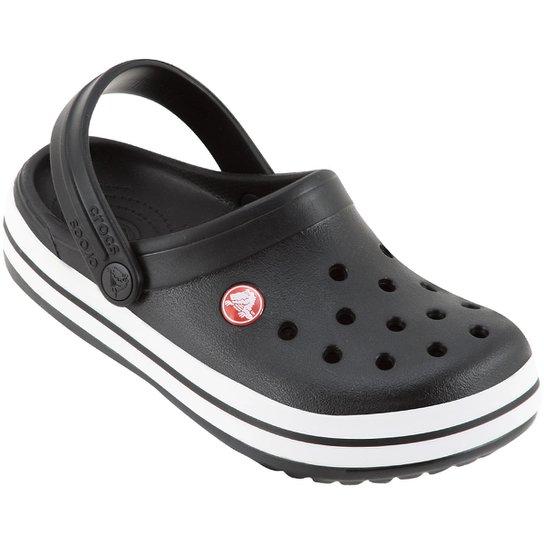 Sandália Infantil Crocs Crocband - Preto e Branco - Compre Agora ... 85eae9d2d78c3