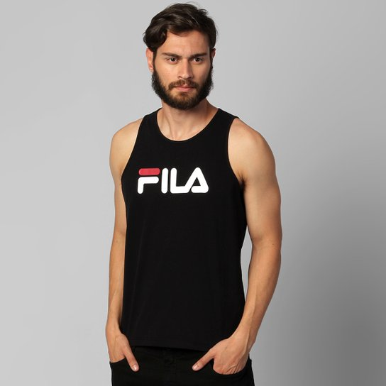Camiseta Regata Fila Letter - Preto - Compre Agora  41c0a12e12e