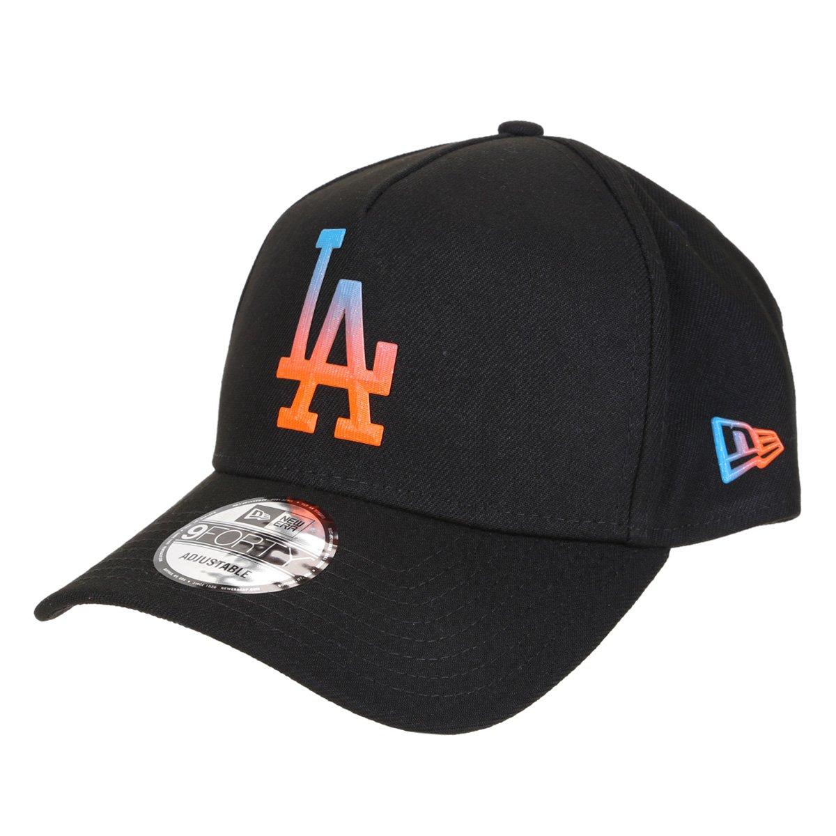 Boné New Era MLB Los Angeles Dodgers Aba Curva Snapback A-Frame Rave Space Gradiente 9Forty