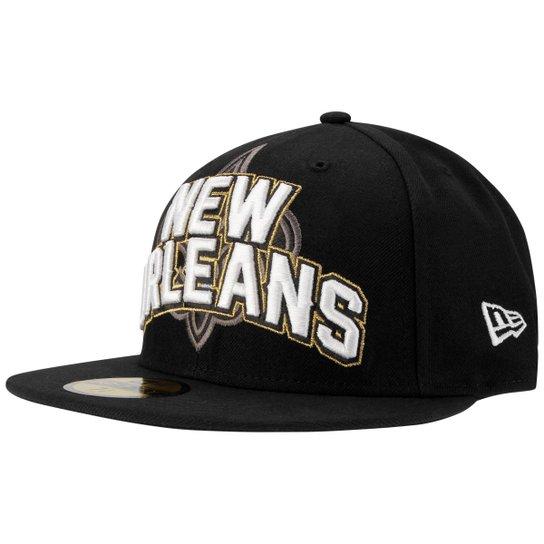 Boné New Era NFL New Orleans Saints Aba Reta 5950 On Field - Compre ... 38887b49822