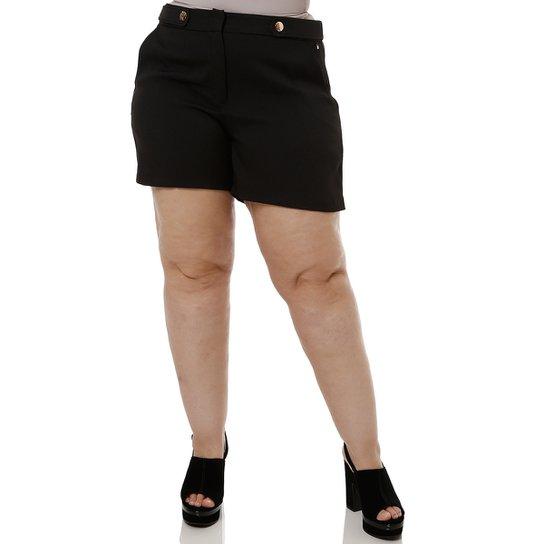 5be6bcdab6 Short de Tecido Plus Size Feminino Queens - Compre Agora