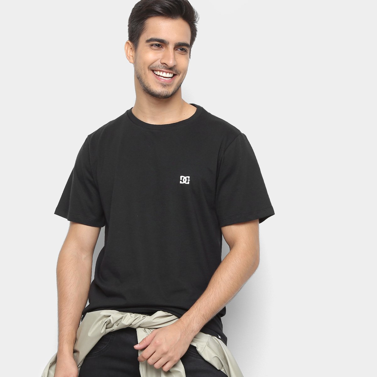 9bd5de4b9 Camiseta DC Shoes Slim Basic Logo Masculina