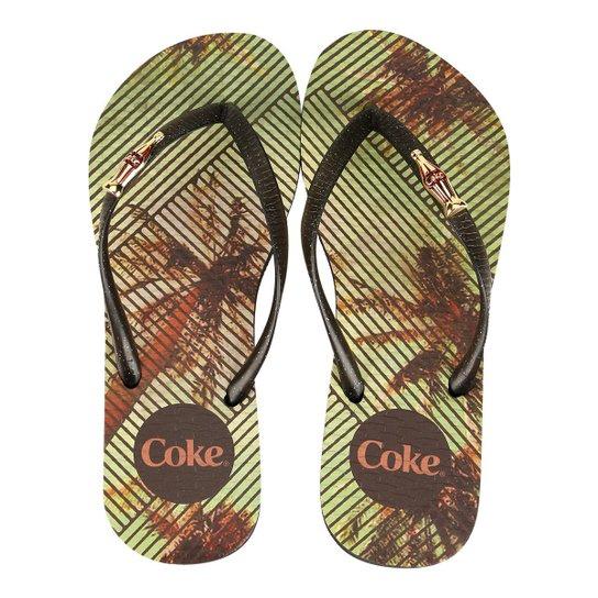 630c66f16 Chinelo Coca-Cola Tropical Square Feminino - Compre Agora