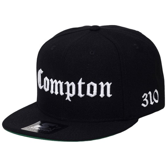 Boné Starter Aba Reta Snapback Compton - Preto - Compre Agora  598c345e3a4
