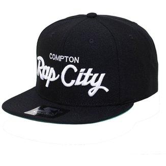 Boné Starter Aba Reta Snapback Compton Rap City 5547ab9c06b