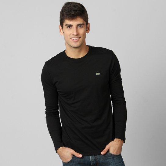ec5e2594de13c Camiseta Lacoste Jersey Manga Longa Masculina - Compre Agora   Zattini