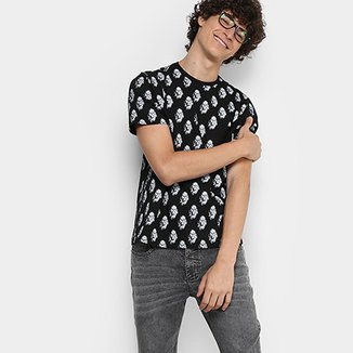 20e2ac0dbb Camiseta Disney Full Print Chewbacca Bolso Masculina