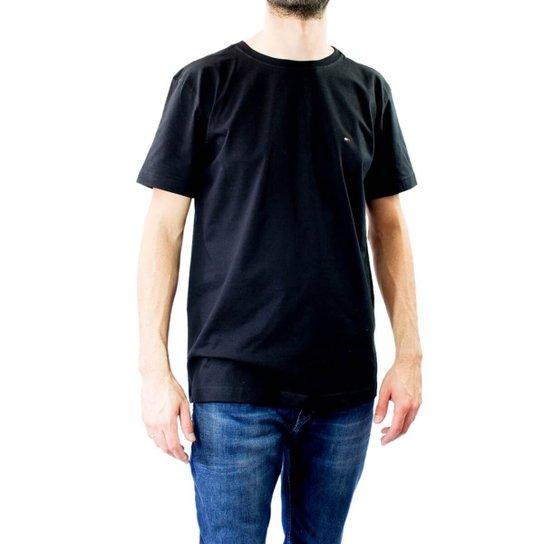 Camiseta Masculina Gola Redonda Tommy Hilfiger - Preto - Compre ... 4c00bfd024918