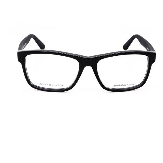 21a16839a Armação Óculos Tommy Hilfiger TH1237 KUN - Preto | Zattini