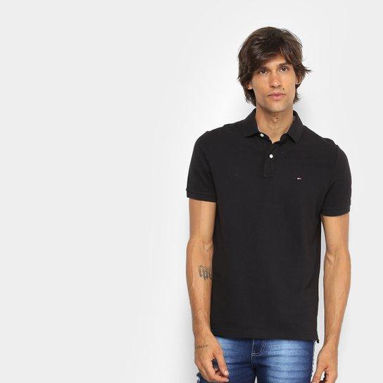 aa30b1f0abb9b Camisa Polo Tommy Hilfiger Básica Masculina - Preto - Compre Agora ...