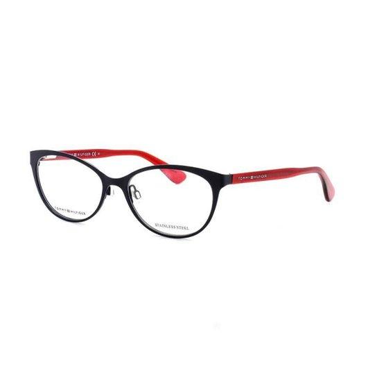 Armação De Óculos De Grau Tommy Hilfiger 1554 T 54 C Pjp - Preto ... 7cffcbe6c0